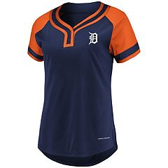 Women's Majestic Detroit Tigers Snap Top