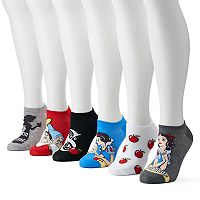 Disney's Snow White Women's 6 pkNo-Show Socks