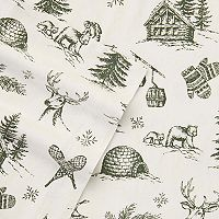 Eddie Bauer Alpine Chalet Flannel Sheet Set