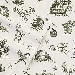Eddie Bauer Alpine Chalet Flannel Sheet Set