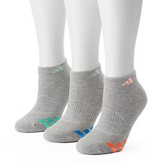Women's adidas 3-pk. Cushioned Variegated Low-Cut Socks