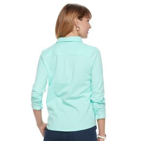 Women's Croft & Barrow® Button Front Shirt