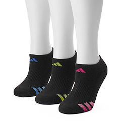 Women's adidas 3-pk. Dark Striped Superlite No-Show Socks