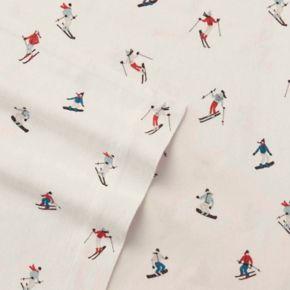 Eddie Bauer Ski Slope Flannel Sheet Set