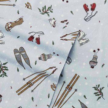 Eddie Bauer Snow Days Flannel Sheet Set
