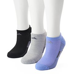 Women's adidas 3 pkColor Striped Superlite No-Show Socks