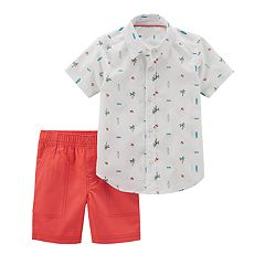 Baby Boy Carter's Palm Tree & Surf Board Shirt & Shorts Set