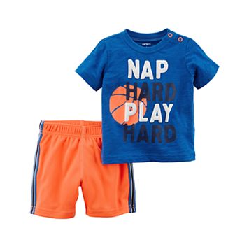Baby Boy Carter's Nap Hard Tee & Shorts Set