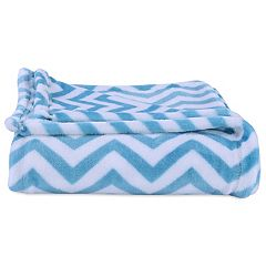 Better Living Velvety Plush Chevron Throw