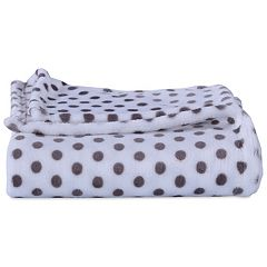 Better Living Velvety Plush Polka-Dot Throw