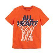 Boys 4-8 Carter's 'All Heart' Basketball Hoop Graphic Tee