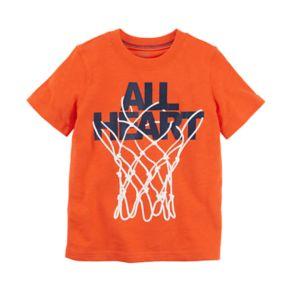 "Boys 4-8 Carter's ""All Heart"" Basketball Hoop Graphic Tee"