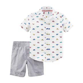 Baby Boy Carter's Cars Shirt & Shorts Set
