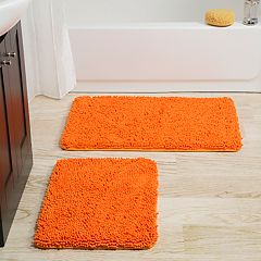 Portsmouth Home 2-piece Memory Foam Shag Bath Mat
