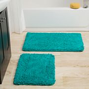 Portsmouth Home 2 pc Memory Foam Shag Bath Mat