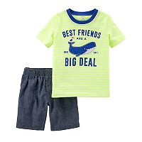 Baby Boy Carter's Whale Best Friends Tee & Chambray Shorts Set