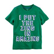 Boys 4-8 Carter's 'I Put The Zing In Amazing' Graphic Tee