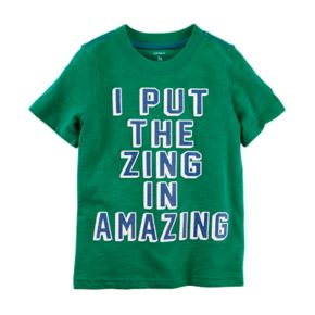 "Boys 4-8 Carter's ""I Put The Zing In Amazing"" Graphic Tee"