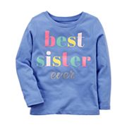 Baby Girl Carter's 'Best Sister Ever' Tee