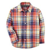Boys 4-8 Carter's Plaid Button Down Shirt