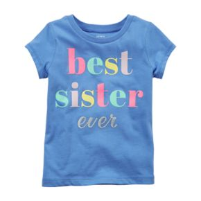 "Baby Girl Carter's ""Best Sister Ever"" Tee"