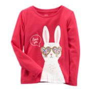 "Baby Girl Carter's ""Love You"" Bunny Tee"