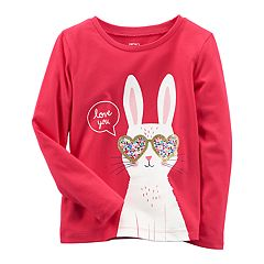 Baby Girl Carter's 'Love You' Bunny Tee