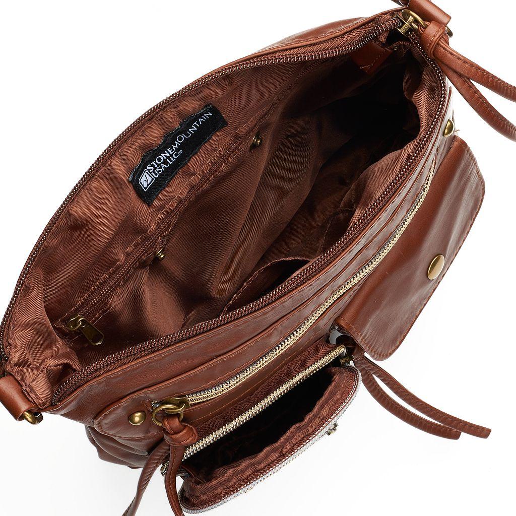 Stone & Co. Emily Double Pocket Utility Phone Charging Crossbody Bag