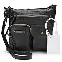 Stone & Co. Emily Double Pocket Utility Phone Charging Crossbody Bag