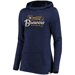 Women's Majestic Milwaukee Brewers Winning Side Hoodie
