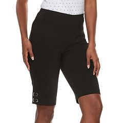 Petite Briggs Grommet Hem Bermuda Shorts
