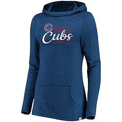 Women's Majestic Chicago Cubs Winning Side Hoodie