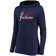 Women's Majestic Cleveland Indians Winning Side Hoodie
