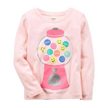 Baby Girl Carter's Gumball Machine Emoji Tee