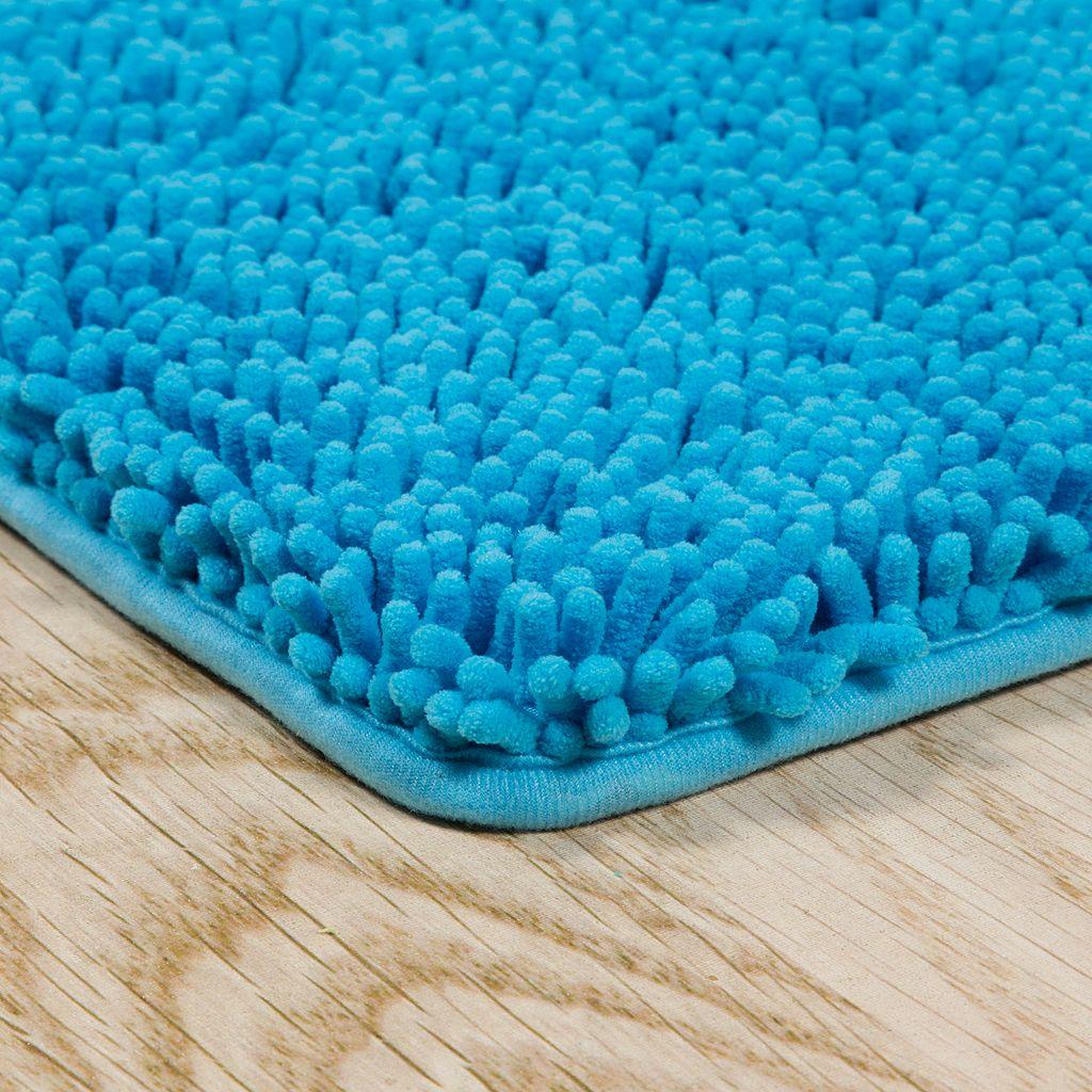 Portsmouth Home Memory Foam Long Shag Bath Mat