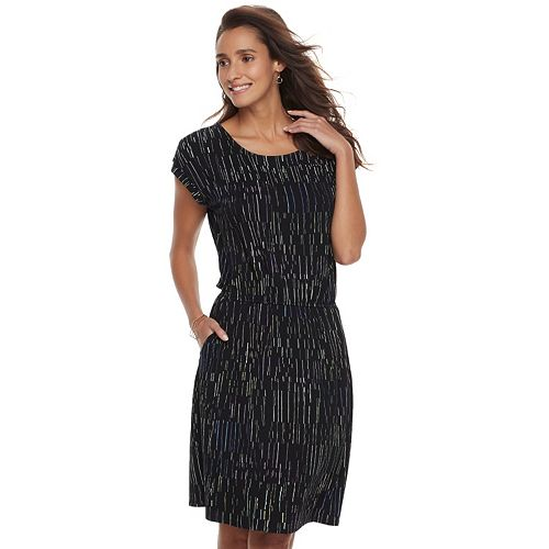 516a0010 Women's Apt. 9® Cinched T-Shirt Dress