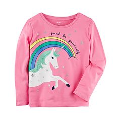 Baby Girl Carter's Unicorn 'Be Yourself' Tee
