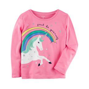 """Baby Girl Carter's Unicorn """"Be Yourself"""" Tee"""