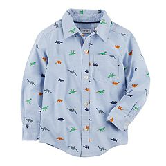 Boys 4-8 Carter's Dinosaur Woven Button Down Shirt
