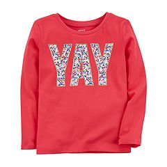 Baby Girl Carter's 'YAY' Graphic Long Sleeve Tee