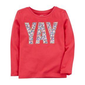 "Baby Girl Carter's ""YAY"" Graphic Long Sleeve Tee"
