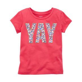"Baby Girl Carter's ""YAY"" Graphic Short Sleeve Tee"