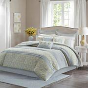 Madison Park Cosette Percale 9 pc Comforter Set