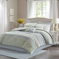 Madison Park Cosette Percale 9 pc Comforter Set