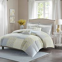Madison Park Cosette Percale 9 pc Duvet Cover Set