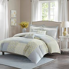 Madison Park Cosette Percale 9-piece Duvet Cover Set