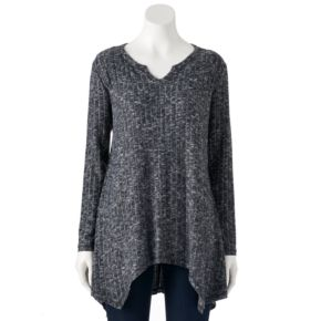 Women's French Laundry Ribbed Shark-Bite Top