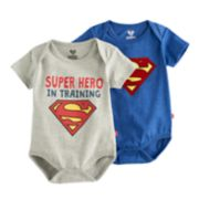 "Baby Boy 2-pk. Marvel Super-Man ""Super Hero In Training"" Bodysuit Set"