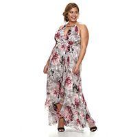 Plus Size Chaya Floral Ruffle Maxi Dress