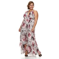 Plus Size Chaya Floral Ruffle Maxi Dress